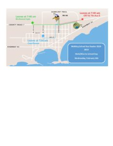 Walking School Bus Routes Winter 2019 - Sawtooth Mountain Clinic